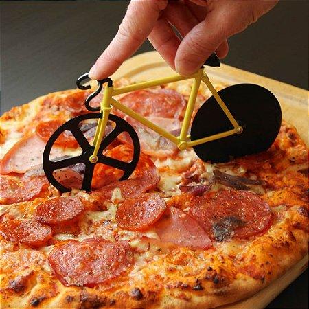 Cortador de Pizza Bicicleta - amarela