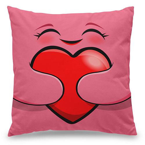Almofada kawaii - Eu te Amo - rosa