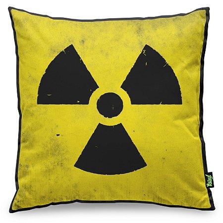 Almofada Radioactive com fundo preto