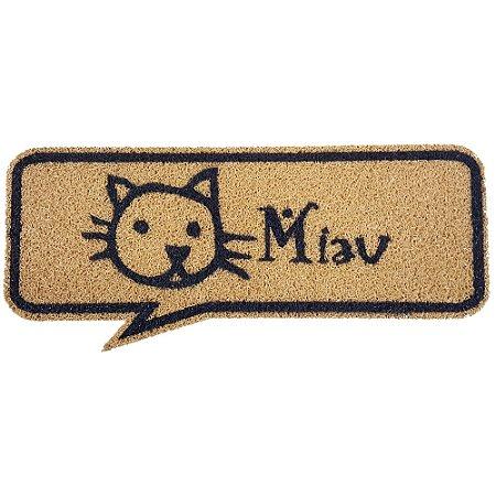 Capacho Balão de Quadrinho Miau Cat - 70 x 30 cm
