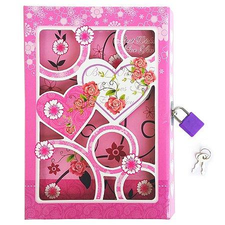 Caderneta de Anotação Caixa com chave Tema Amizade - estampa sortida