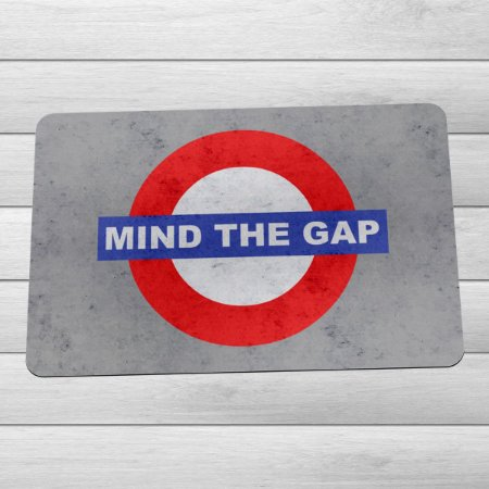 Capacho Eco Slim 3mm Londres Mind The Gap