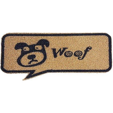 Capacho Balão de Quadrinho Woof Dog - 70 x 30 cm