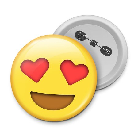 Botton Emoticon - Emoji Amor