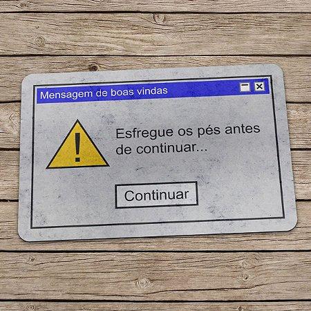 Capacho Eco Slim 3mm Mensagem de Boas Vindas