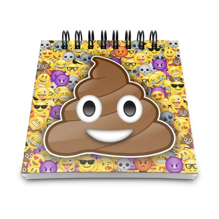 Bloco de Anotações Emoticon - Emoji Cocozinho Poop