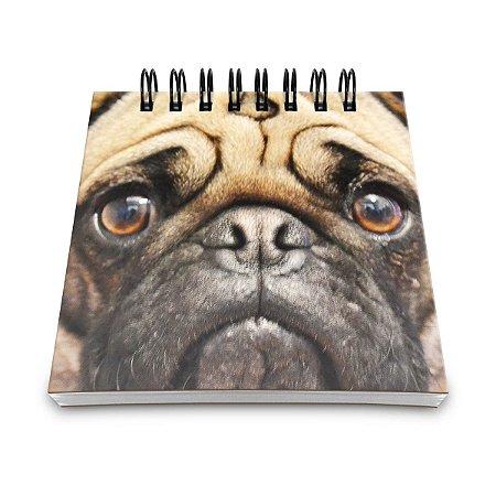 Bloco de Anotações Pug Face