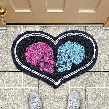 Capacho em fibra de coco Skull Love