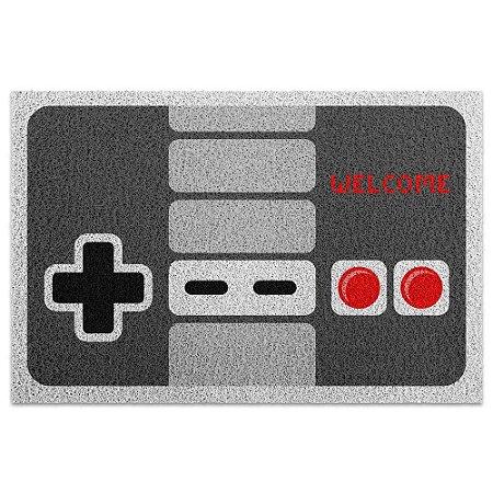 Capacho em Vinil Gamer Joystick Retrô - 60 x 40