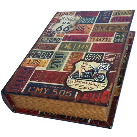 Caixa Livro Decorativa Route 66 The Mother Road - 25 x 18 cm
