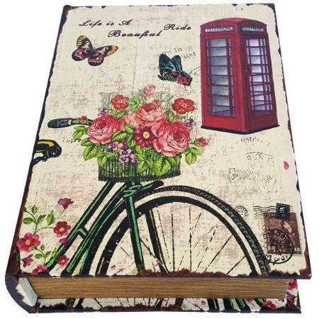 Caixa Livro Decorativa Paris Ride Beautiful - 25 x 18 cm