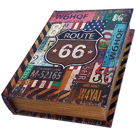Caixa Livro Decorativa Route 66 - 25 x 18 cm