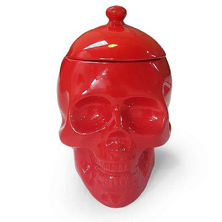 Pote Caveira Crânio Skull com tampa