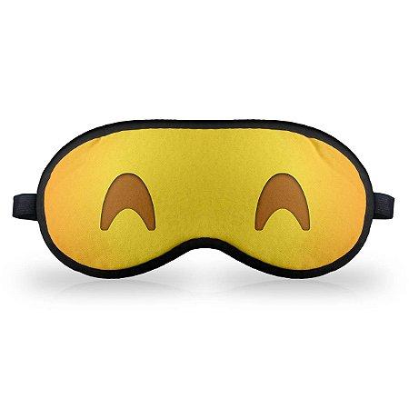 Máscara de Dormir em neoprene - Emoticon Emoji Dormindo Feliz