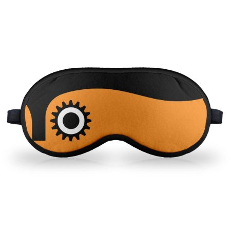Máscara de Dormir em neoprene - Clock Orange