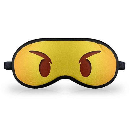 Máscara de Dormir em neoprene - Emoticon Emoji Bravinho