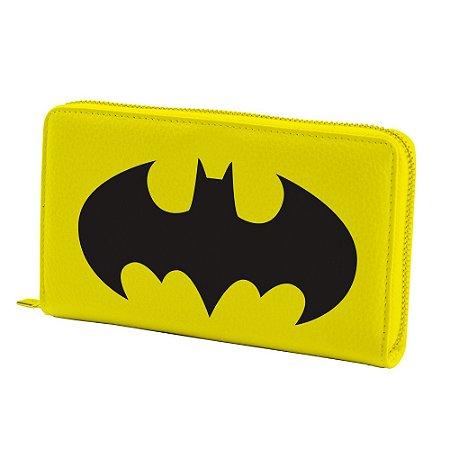 Carteira DC Logo Batman com zíper