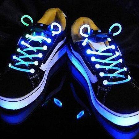 Par de Cadarço LED - azul