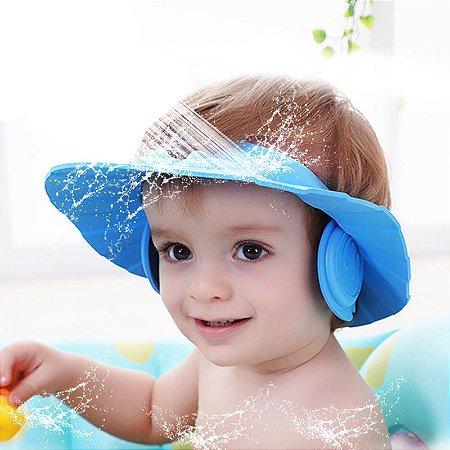 Chapeu de Banho para Bebes - rosa
