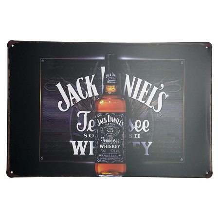Placa de Metal Decorativa Jack Daniel's Tennessee Whiskey