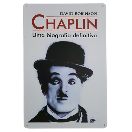 Placa de Metal Decorativa Chaplin