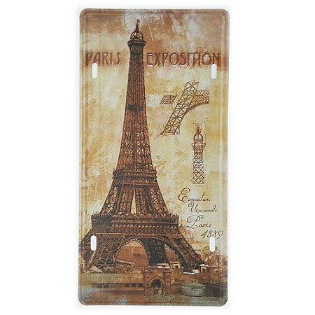 Placa de Metal Decorativa Paris Exposition