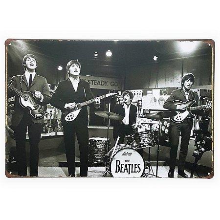 Placa de Metal Decorativa The Beatles