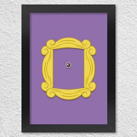 Poster com Moldura Friends Door
