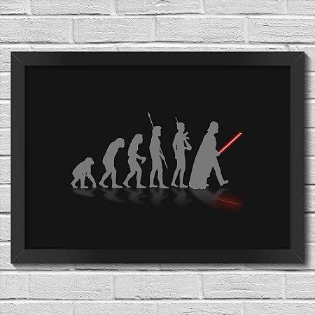 Poster A3 com Moldura Geek Evolution - preto