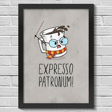 Poster A3 com Moldura Expresso Patronum