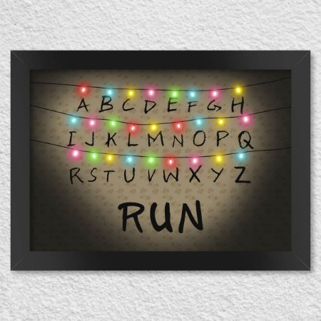 Poster com Moldura Stranger Run