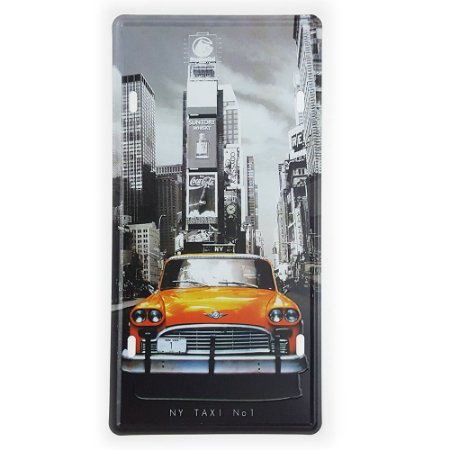 Placa de Metal Decorativa NY Taxi