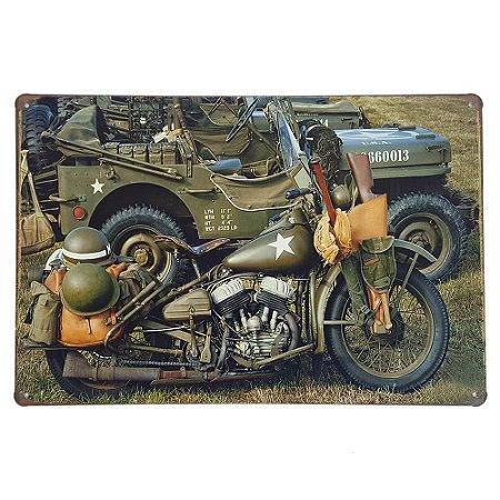 Placa de Metal Decorativa Army - 30 x 20 cm
