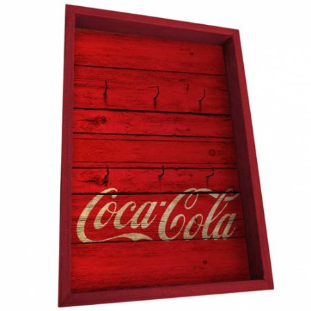Porta Chaves Coca-Cola Wood Style