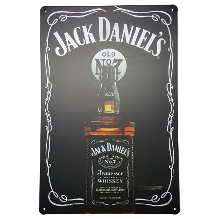 Placa de Metal Decorativa Jack Daniel's No 7
