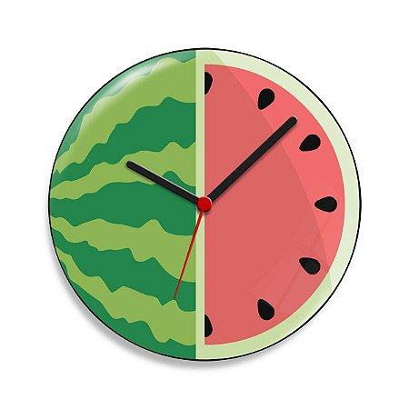 Relógio de Parede Melancia - 20 cm