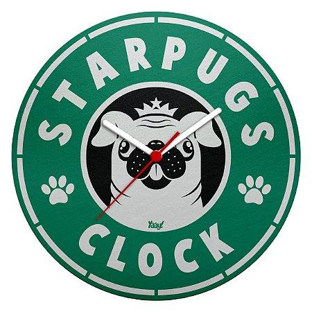 Relógio de Parede Ecológico StarPugs Clock