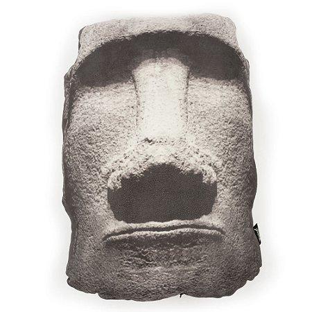 Almofada em suede Moai Head
