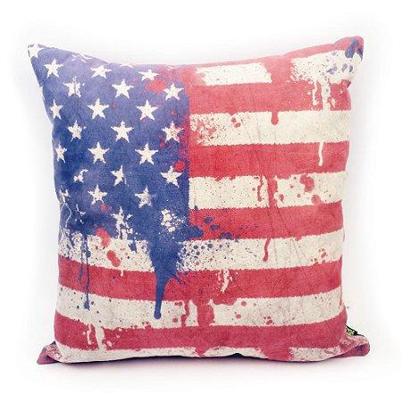 Almofada em suede Coleção Flag - Estados Unidos