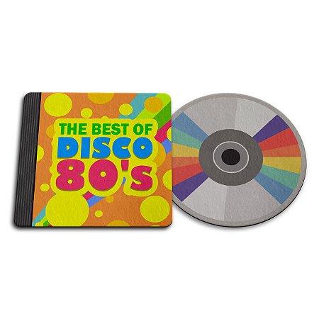 Par de Porta Copo Ecológico Imã Best of Disco 80s - CD