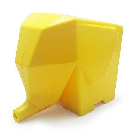 Porta Talheres e Escorredor Elefante - amarelo