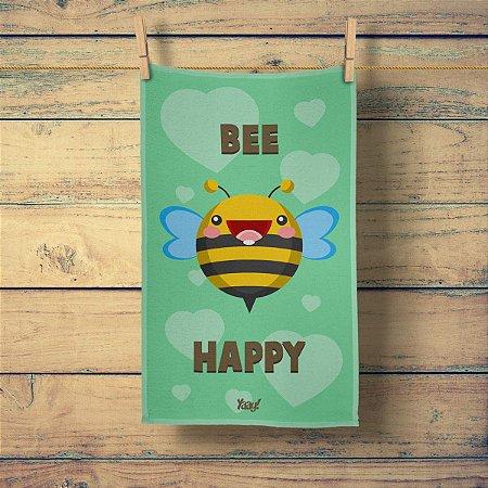 Pano de Prato Abelha Bee Happy
