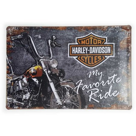 Placa de Metal Harley-Davidson My Favorite Ride - 30 x 20 cm