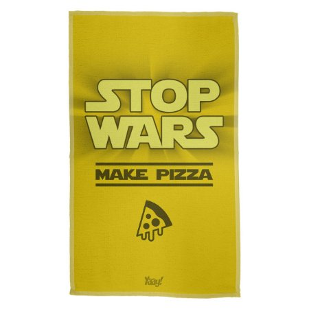 Pano de Prato Stop Wars Make Pizza