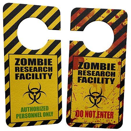 Aviso de Porta Ecológico Zombie Research Facility