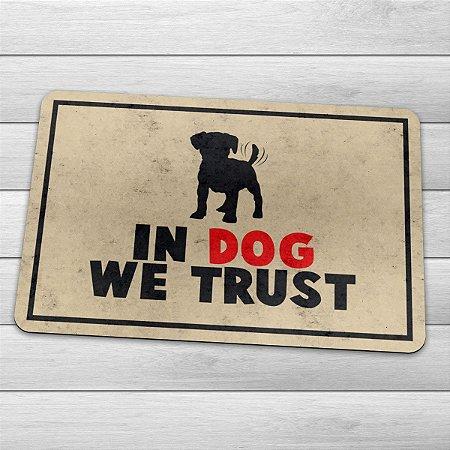 Capacho Eco Slim 3mm In Dog We Trust