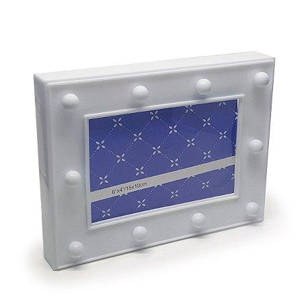 Porta Retrato Luminária sem Fio LED - branco
