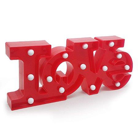 Luminária sem Fio LOVE 40 cm - vermelho
