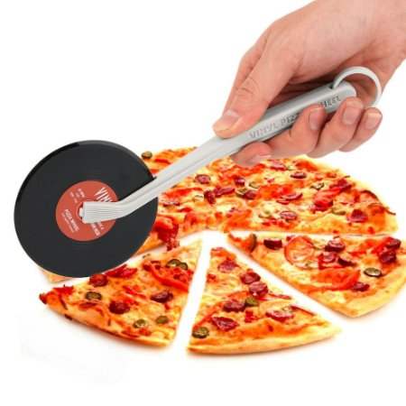 Cortador de Pizza Disco de Vinil - Vinyl Pizza Wheel