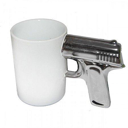 Caneca Pistola Glock - branca